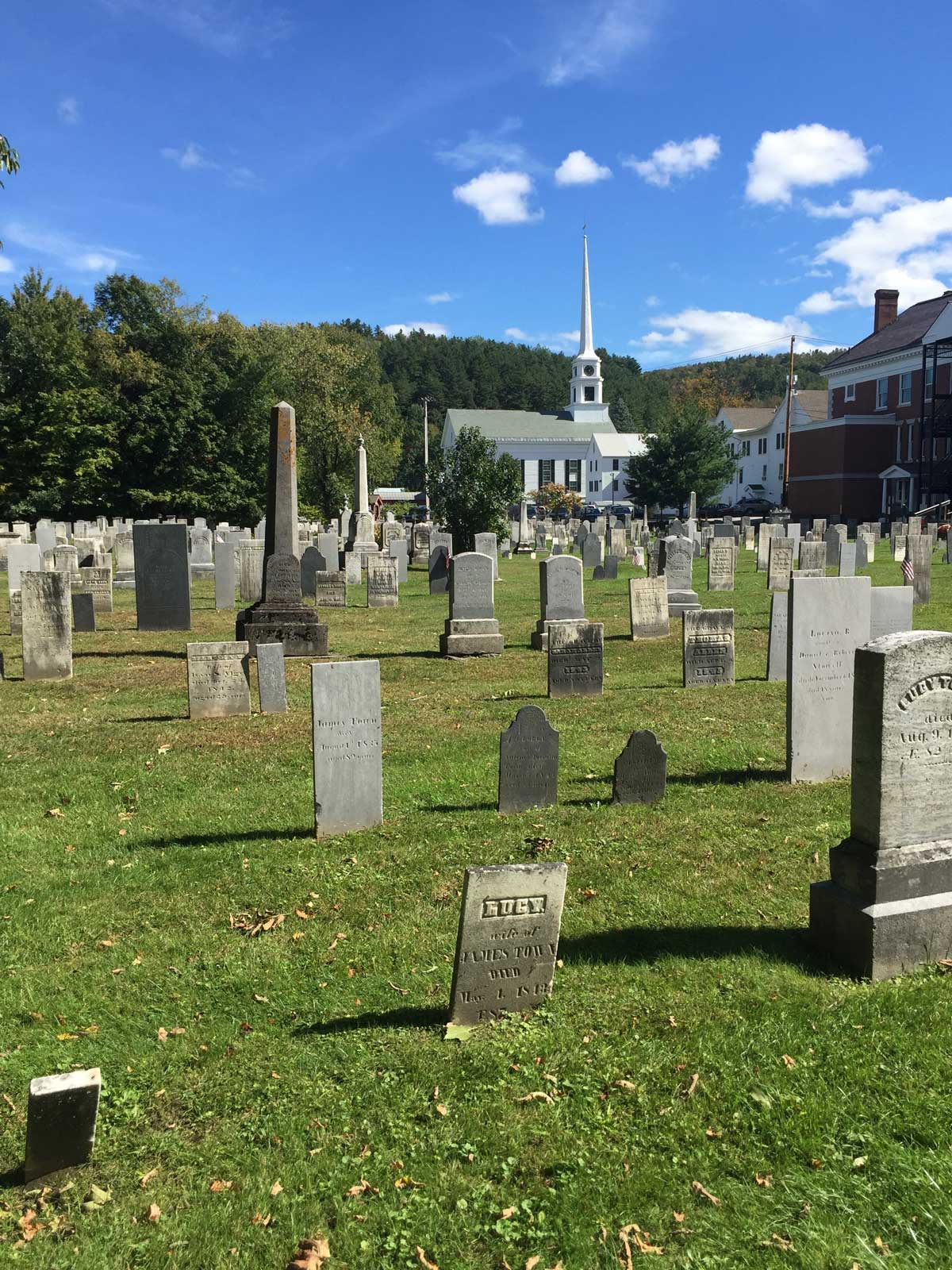 Old Yard Cemetery at Stowe, photos by Kira Butler